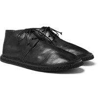 Marsell Stag Leather Chukka Boots Black