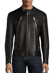 Maison Martin Margiela Five Zip Leather Jacket Black