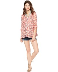 A Pea In The Pod Maternity Printed Blouse Floral Print