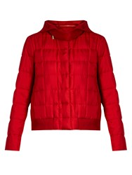 Moncler Gamme Rouge Nastya Hooded Silk Twill Jacket Red