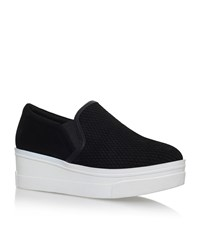 Kg By Kurt Geiger Lizard Wedge Sneakers Female Black