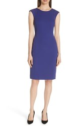 Boss Deboa Twill Sheath Dress Deep Lilac