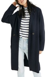 Madewell Double Breasted Sweater Coat Nautical Black