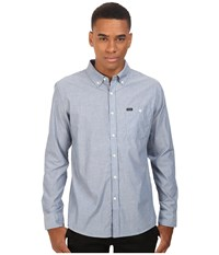 Brixton Central Long Sleeve Woven Light Blue Chambray Men's Long Sleeve Button Up