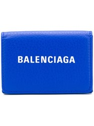 Balenciaga Everyday Logo Wallet Blue