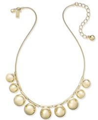 Kate Spade New York Ring It Up Gold Tone Bubble Collar Necklace