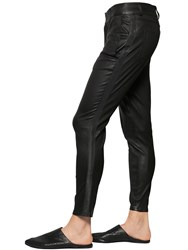 The Kooples Smooth Stretch Leather Tuxedo Pants