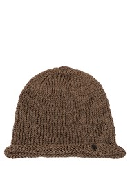 Isabel Benenato Coated Cotton Knit Beanie Hat