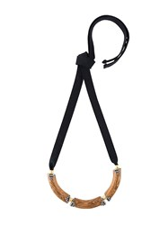 Marni Wood Block Necklace Black