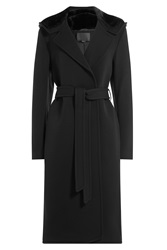 Alexander Wang Wool Coat With Cashmere And Faux Fur Black