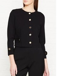 Lk Bennett L.K. Myriam Buttoned Cardigan Jacket Black