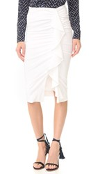 Veronica Beard Drew Cascade Ruffle Skirt White