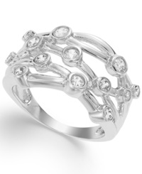 Macy's Sterling Silver Ring Cubic Zirconia Circle Ring 1 Ct. T.W.