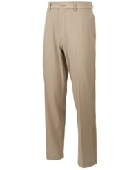 Greg Norman For Tasso Elba Men's Fuego Stretch Pants Created For Macy's Khaki