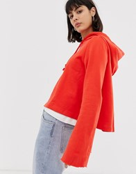 Weekday Barrier Flared Sleeve Hoodie