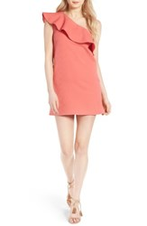 Cupcakes And Cashmere Women's Ruffle One Shoulder Dress