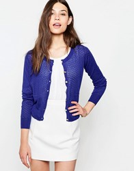 Yumi Button Front Cardigan Cobalt Blue