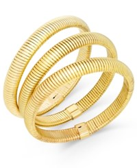 Thalia Sodi Gold Tone Trio Set Of Herringbone Stretch Bracelets Only At Macy's
