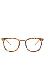 Bottega Veneta Square Frame Acetate Glasses Brown Multi