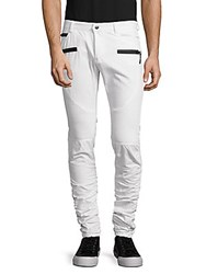 American Stitch Zippered Twill Pants White
