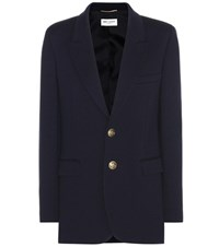 Saint Laurent Wool Jacket Blue