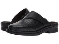 Clarks Patty Tayna Black Leather Clog Shoes