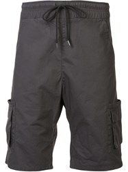 John Elliott Drawstring Cargo Shorts Grey