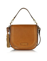 The Bridge Large Leather Messenger Bag W Tassels Cognac