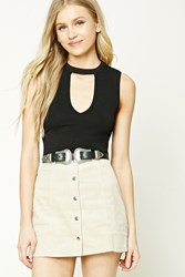 Forever 21 Corduroy Mini Skirt Tan