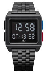 Adidas Archive Digital Bracelet Watch 36Mm Black Blue Red