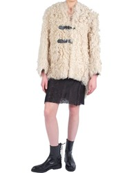 Yang Li Reversible Shearling Jacket Neutral