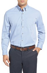 Men's Big And Tall Cutter And Buck 'Richard' Classic Fit Dobby Plaid Sport Shirt