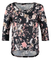 Dorothy Perkins Long Sleeved Top Navy Rose Dark Blue