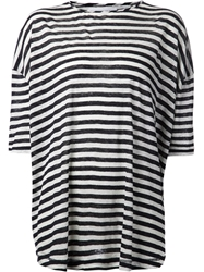 10 Crosby Derek Lam Stripes T Shirt Blue
