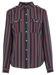 Oasis Striped Shirt Multi Blue