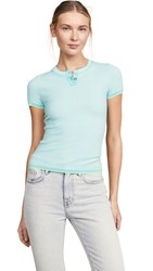 Barrie Henley Top Turquoise