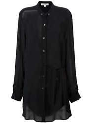 Ann Demeulemeester Blanche Semi Sheer Long Shirt Black