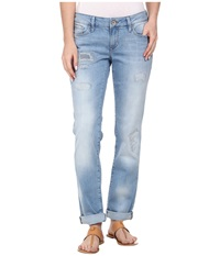 Mavi Jeans Emma Slim Boyfriend In Rip And Repair Vintage Rip And Repair Vintage Women's Jeans Blue
