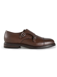 Brunello Cucinelli Double Monk Strap Shoes Brown