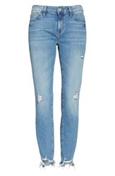 Mavi Jeans Women's Adriana Ripped Skinny Crop Light Destructed Vintage