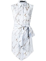 Andrea Marques Belted Shirt Women Cotton 38 White