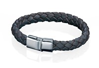 Fred Bennett Braided Brown Leather Bracelet