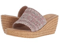 Sbicca Fairy Red Multi Wedge Shoes