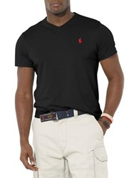 Polo Big And Tall Jersey V Neck T Shirt Black