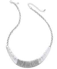 Inc International Concepts Gold Tone Wire Wrap Collar Necklace Only At Macy's Silver
