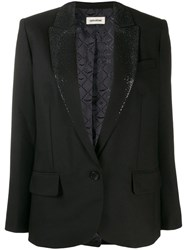 Zadig And Voltaire Viking Strass Blazer Black