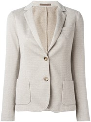 Eleventy Fitted Blazer Jacket Nude Neutrals