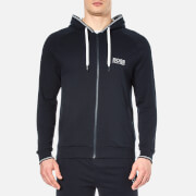 Hugo Boss Men's Zipped Hooded Sweatshirt Navy