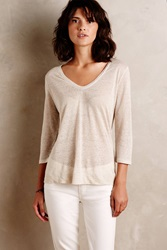 Bordeaux Linen 3 4 Tee Neutral Motif