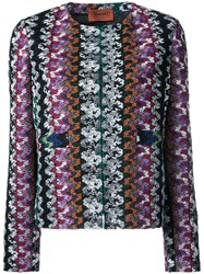 Missoni Collarless Open Jacket Black